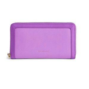 "Vera Bradley ""Georgia"" Leather Wallet in Lilac"